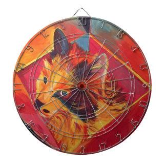 POP ART COLORFUL CAT DARTBOARD