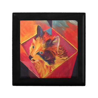 POP ART COLORFUL CAT GIFT BOX