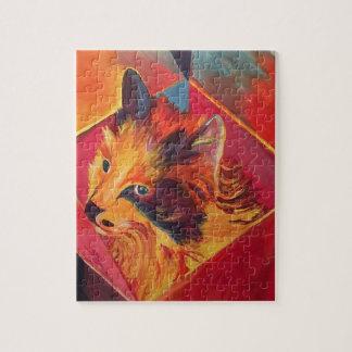 POP ART COLORFUL CAT JIGSAW PUZZLE