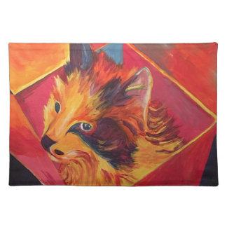 POP ART COLORFUL CAT PLACEMAT