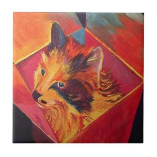 POP ART COLORFUL CAT TILE