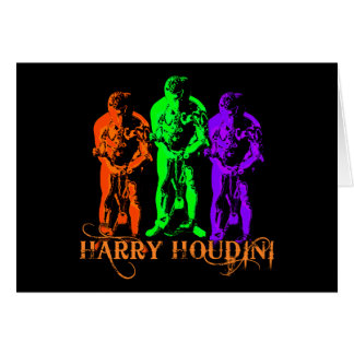 Pop Art Colorful Houdini Triple Image Card