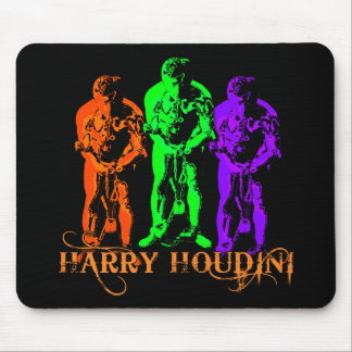 Pop Art Colorful Houdini Triple Image Mouse Pad