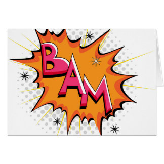 Pop Art Comic Bam! Card