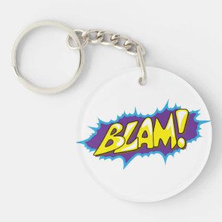 Pop Art Comic Blam! Key Ring