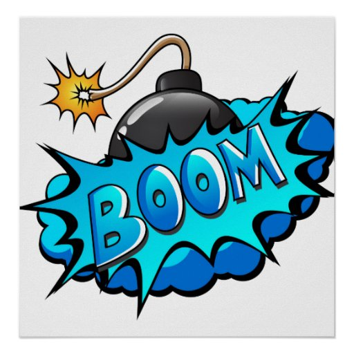 Pop Art Comic Style Bomb Boom! Poster | Zazzle