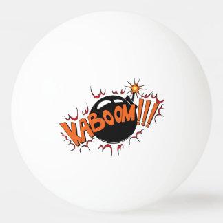 Pop Art Comic Style KaBoom! Ping Pong Ball