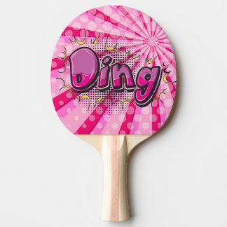 Pop Art Comic Style Pink Ding Hero Personalized Ping Pong Paddle