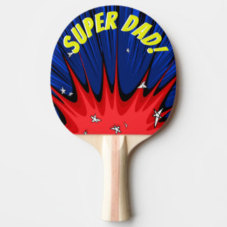 Pop Art Comic Style Super Dad Personalized Ping Pong Paddle
