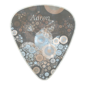 Pop Art Concentric Circles Blue Guitar Pick Pearl Celluloid Guitar Pick