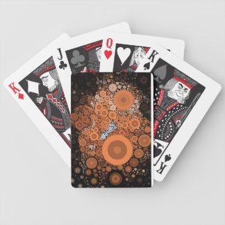 Pop Art Concentric Circles Floral Orange Cards