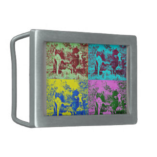 Pop Art Cow Belt Buckle
