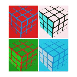 Pop art cubes canvas print