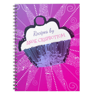 Pop art cupcake baking recipe notebook