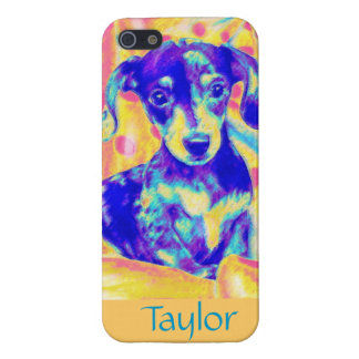 pop art dachshund case for the iPhone 5