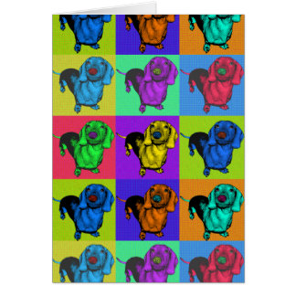 Pop Art Dachshund Panels Card