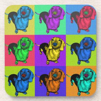 Pop Art Dachshund Panels Coaster