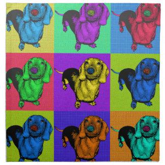 Pop Art Dachshund Panels Napkin