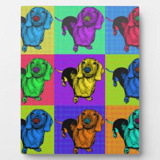 Pop Art Dachshund Panels Plaque