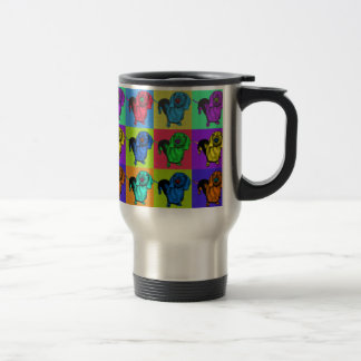 Pop Art Dachshund Panels Travel Mug