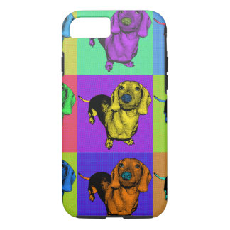 Pop Art Dachsund Doxie Panels Multi-Color Popart iPhone 7 Case