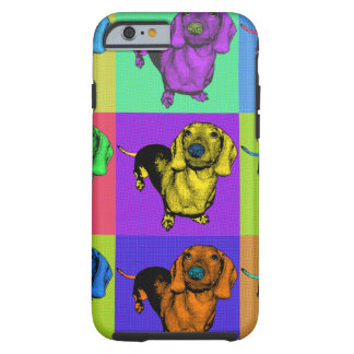 Pop Art Dachsund Doxie Panels Multi-Color Popart Tough iPhone 6 Case
