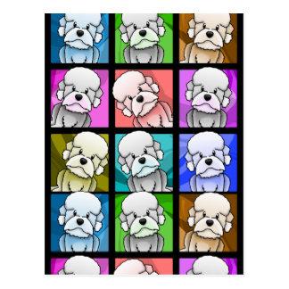 Pop Art Dandie Dinmont Terrier Post Card
