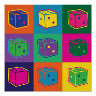 Pop-art Dice Poster