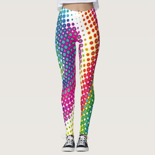 Pop Art Dots and Circles Leggings