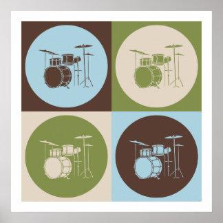 Pop Art Drums Poster