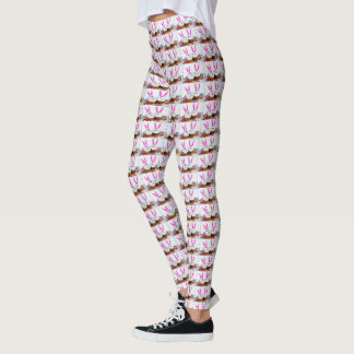 Pop Art Easter Bunny Cupcakes Leggings