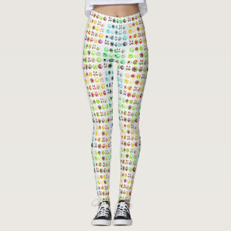 Pop Art Easter Cupcakes 2 Leggings