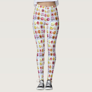 Pop Art Easter Cupcakes Leggings