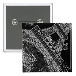 Pop Art Eiffel Tower Paris 15 Cm Square Badge
