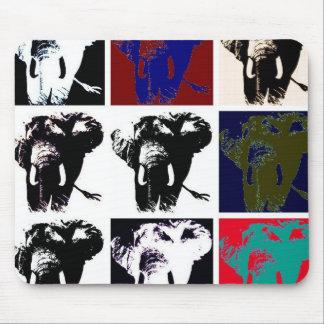Pop Art Elephants Mouse Pad