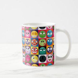 pop art emojis coffee mug