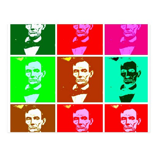 Pop Art .esque Abraham Lincoln Postcard