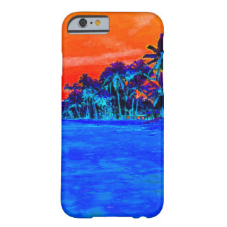 Pop Art Exotic Beach Palm Trees Barely There iPhone 6 Case