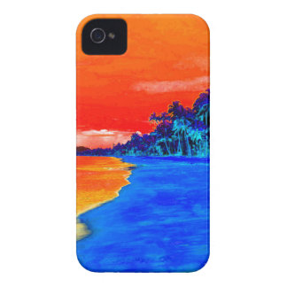 Pop Art Exotic Beach Palm Trees iPhone 4 Case