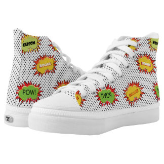 pop art explosion printed shoes