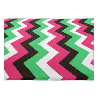 Pop Art Fast Lane Chevron Design Placemats