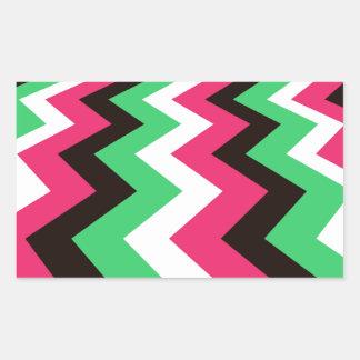 Pop Art Fast Lane Chevron Design Rectangular Sticker