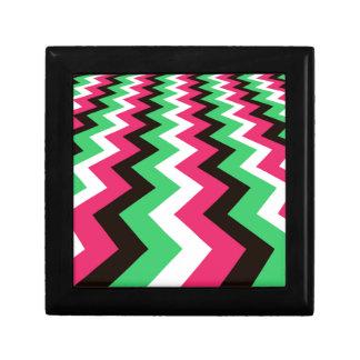 Pop Art Fast Lane Chevron Design Small Square Gift Box