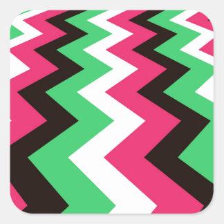 Pop Art Fast Lane Chevron Design Square Sticker