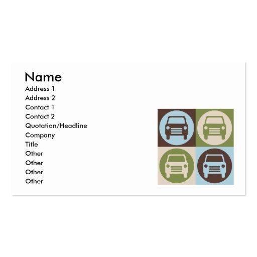 Pop Art Fixing Cars Business Cards