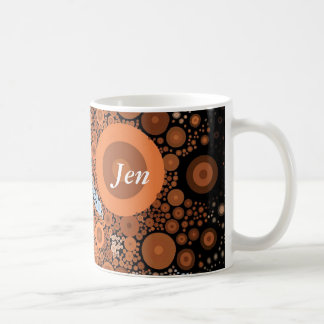 Pop Art Floral Orange Mug