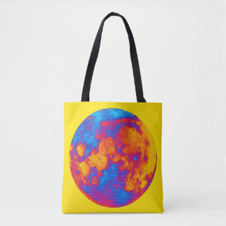 Pop Art Full Moon Tote Bag