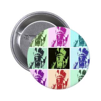 Pop Art Geronimo Pinback Button