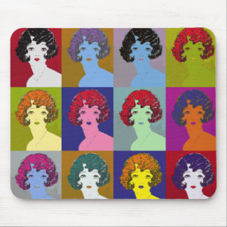 Pop Art Girls Mouse Pad
