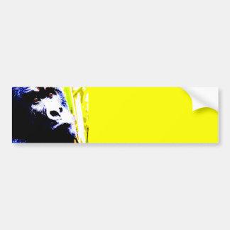 Pop Art Gorilla Bumper Sticker